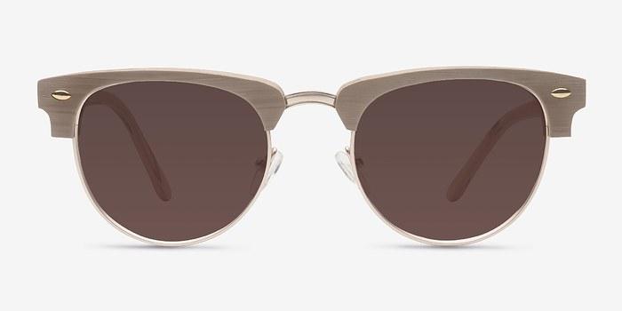 Oak & Silver The Hamptons -  Vintage Wood Texture Sunglasses