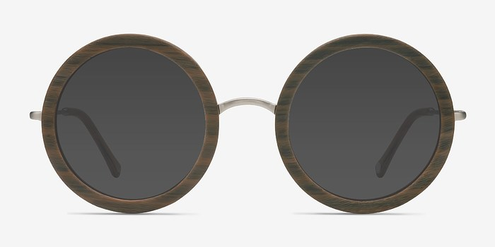 Brown Striped Joplin -  Acetate Sunglasses