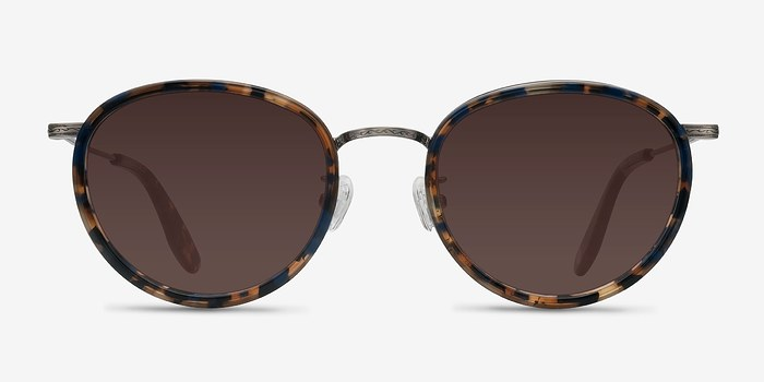 Blue Floral  Sun Tea -  Acetate Sunglasses