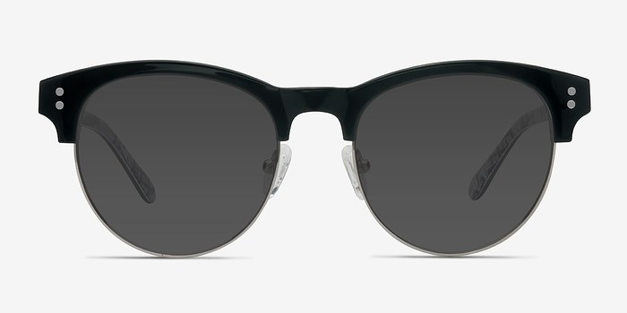 Black Floral College -  Acetate Sunglasses