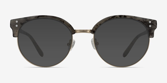 Dark Marble Samba -  Metal Sunglasses
