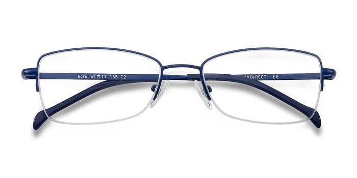 Navy Ecru -  Colorful Metal Eyeglasses