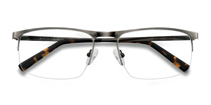 Gunmetal Silver Wayne -  Fashion Metal Eyeglasses