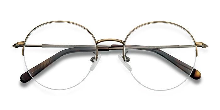 Bronze Albee -  Designer Metal Eyeglasses