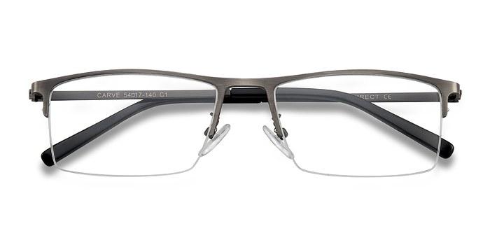 Gunmetal Carve -  Metal Eyeglasses