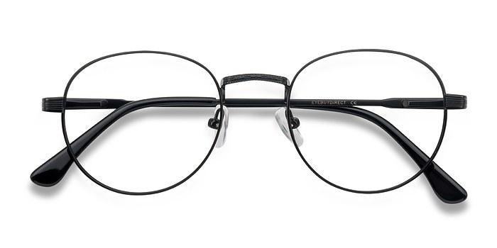 Matte Black  Belleville -  Classic Metal Eyeglasses