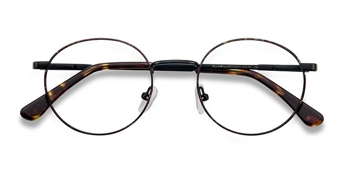 Black/Brown Santa Fe -  Metal Eyeglasses