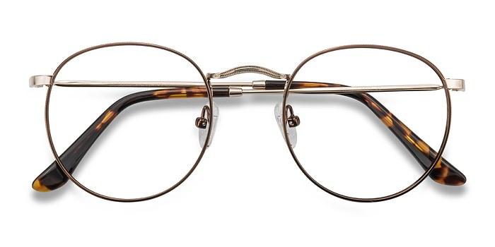 Brown/Golden Daydream -  Classic Metal Eyeglasses