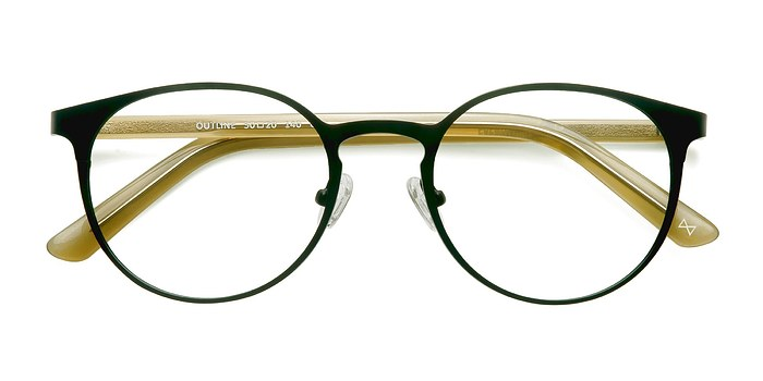 Black Steel/Acetate Outline -  Designer Acetate Eyeglasses