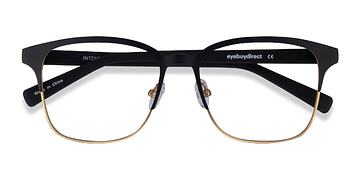 Matte Black/Golden  Intense -  Fashion Metal Eyeglasses