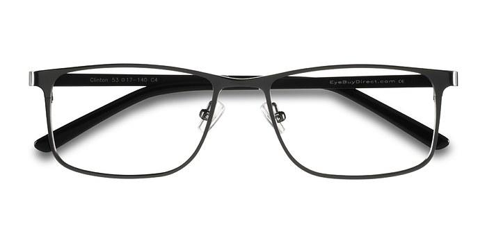 Dark Gunmetal  Clinton -  Classic Metal Eyeglasses