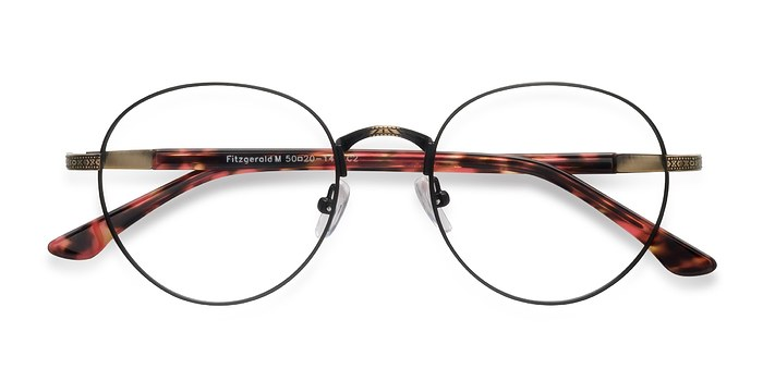 Matte Black and Tortoise Fitzgerald -  Metal Eyeglasses