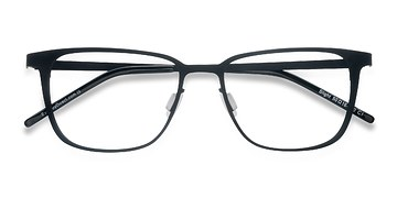 Matte Black Slight -  Metal Eyeglasses