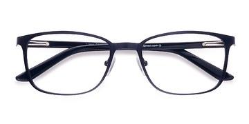 Navy Lines -  Classic Metal Eyeglasses