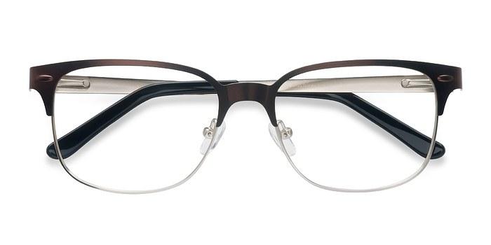Brown Silver Baker Street -  Classic Metal Eyeglasses