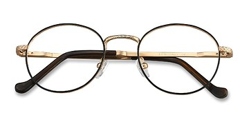 Black Golden Mingus -  Metal Eyeglasses