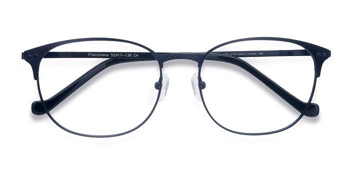 Navy Phenomena -  Colorful Metal Eyeglasses