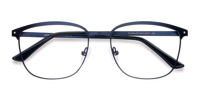 Navy Lightbeam -  Metal Eyeglasses