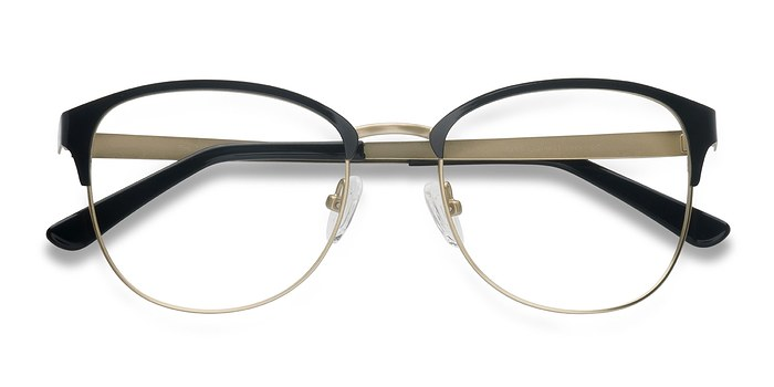 Black Golden The Moon -  Metal Eyeglasses
