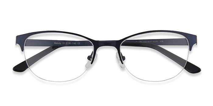 Navy Melody -  Colorful Metal Eyeglasses