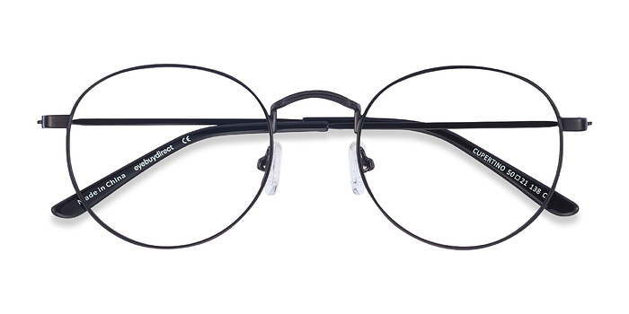 Black Cupertino -  Metal Eyeglasses