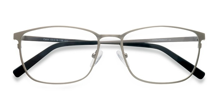Gunmetal Calm -  Metal Eyeglasses