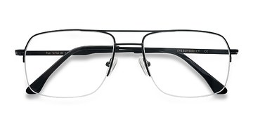Black Tux -  Metal Eyeglasses