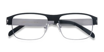 Matte Black Wallace -  Metal Eyeglasses