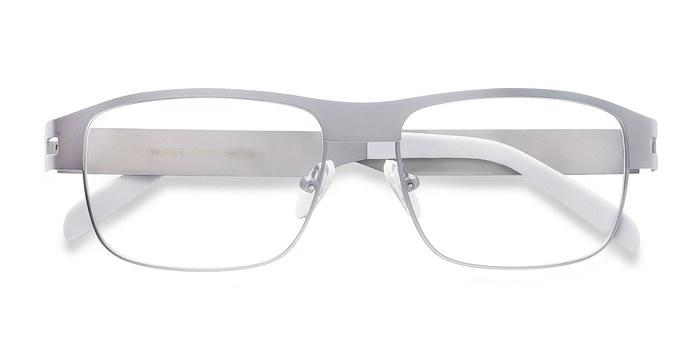 Matte Gray Wallace -  Metal Eyeglasses