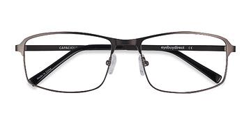 Matte Gunmetal Capacious -  Metal Eyeglasses