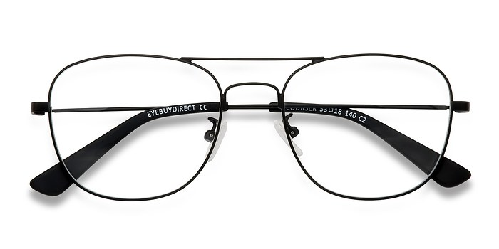 Black Courser -  Metal Eyeglasses