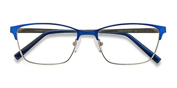 Blue Cascade -  Colorful Metal Eyeglasses