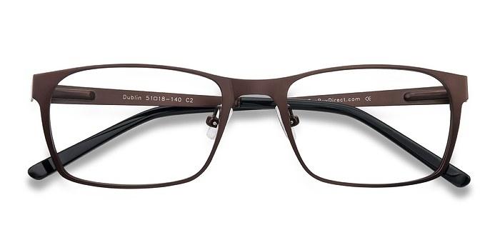 Coffee Dublin -  Classic Metal Eyeglasses