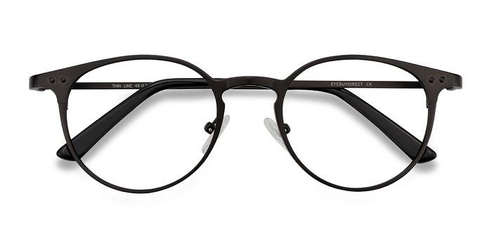Coffee Thin Line -  Fashion Metal Eyeglasses