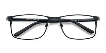 Black  Clinton -  Classic Metal Eyeglasses