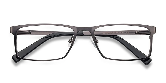 Gunmetal/Black Cristian -  Metal Eyeglasses