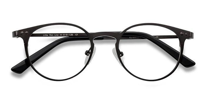 Coffee Little Thin Line -  Fashion Metal Eyeglasses