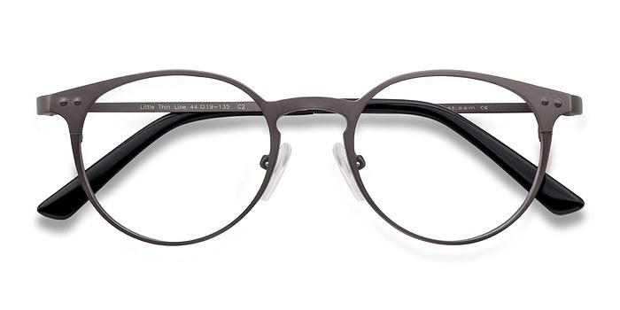 Gunmetal Little Thin Line -  Fashion Metal Eyeglasses