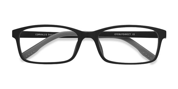 Black Corvallis -  Lightweight Plastic Eyeglasses