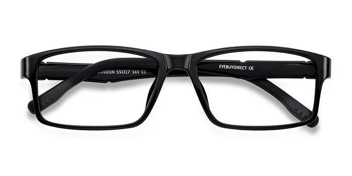 Black Bandon -  Lightweight Plastic Eyeglasses