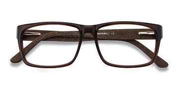 Brown Lexington -  Classic Wood Texture Eyeglasses