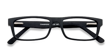 Black Cambridge -  Classic Wood Texture Eyeglasses