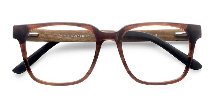 Brown Belmont -  Fashion Wood Texture Eyeglasses