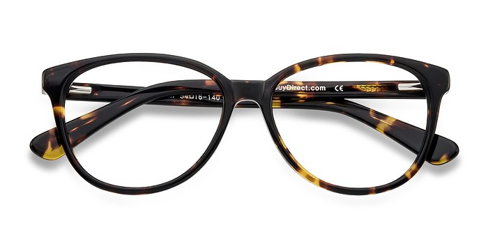 Tortoise Hepburn -  Classic Acetate Eyeglasses