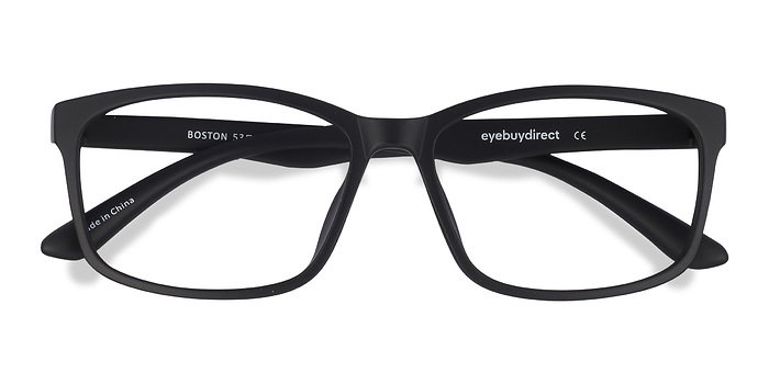 Matte Black Boston -  Classique Plastique Lunettes de Vue