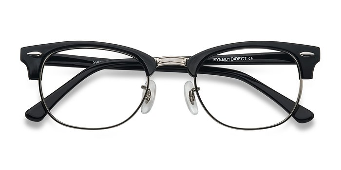 Black/Silver Sweet Jane -  Fashion Acetate Eyeglasses