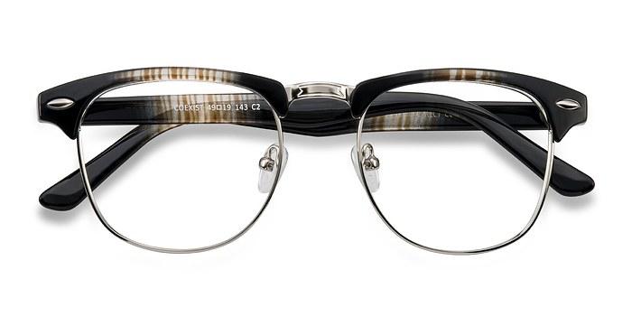 Brown/Silver Coexist -  Fashion Metal Eyeglasses