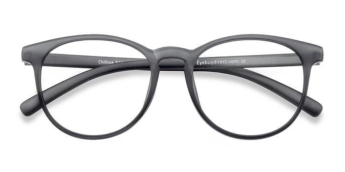 Matte Gray Chilling -  Fashion Plastic Eyeglasses