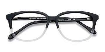Clear/Black Escapee -  Classic Acetate Eyeglasses