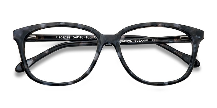 Gray/Floral Escapee -  Colorful Acetate Eyeglasses